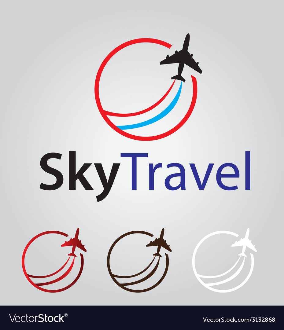 Sky travel logo vector | Price: 1 Credit (USD $1)