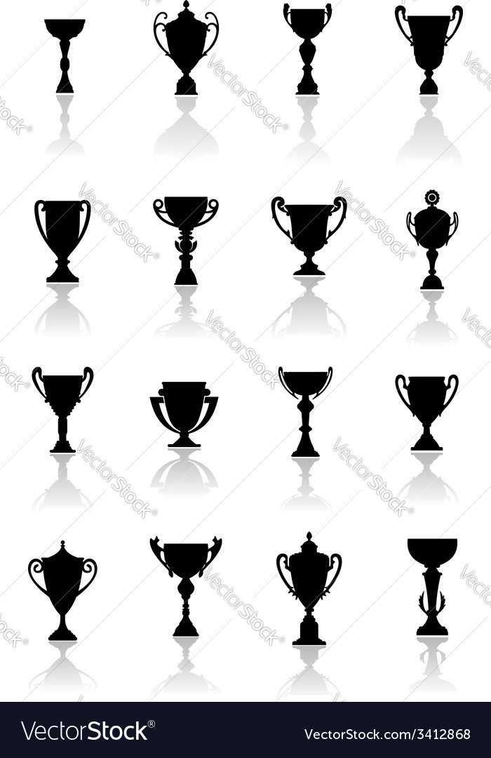 Sporting trophies or winners cups vector | Price: 1 Credit (USD $1)