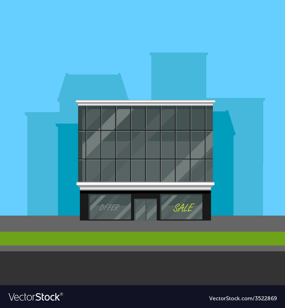 Business center or shopping mall in flat polygonal vector | Price: 1 Credit (USD $1)