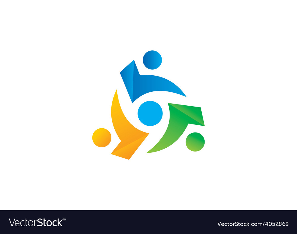 Circle people group teamwork logo vector | Price: 1 Credit (USD $1)