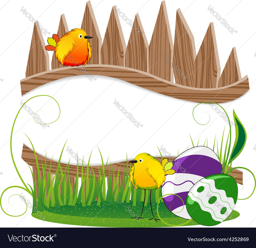 Funny birds and easter eggs vector | Price: 3 Credit (USD $3)