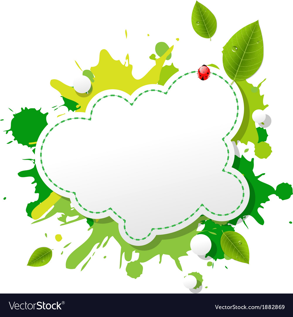 Green eco speech bubble vector | Price: 1 Credit (USD $1)