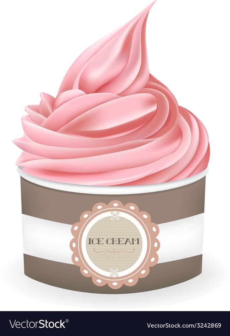 Ice cream cup vector | Price: 3 Credit (USD $3)