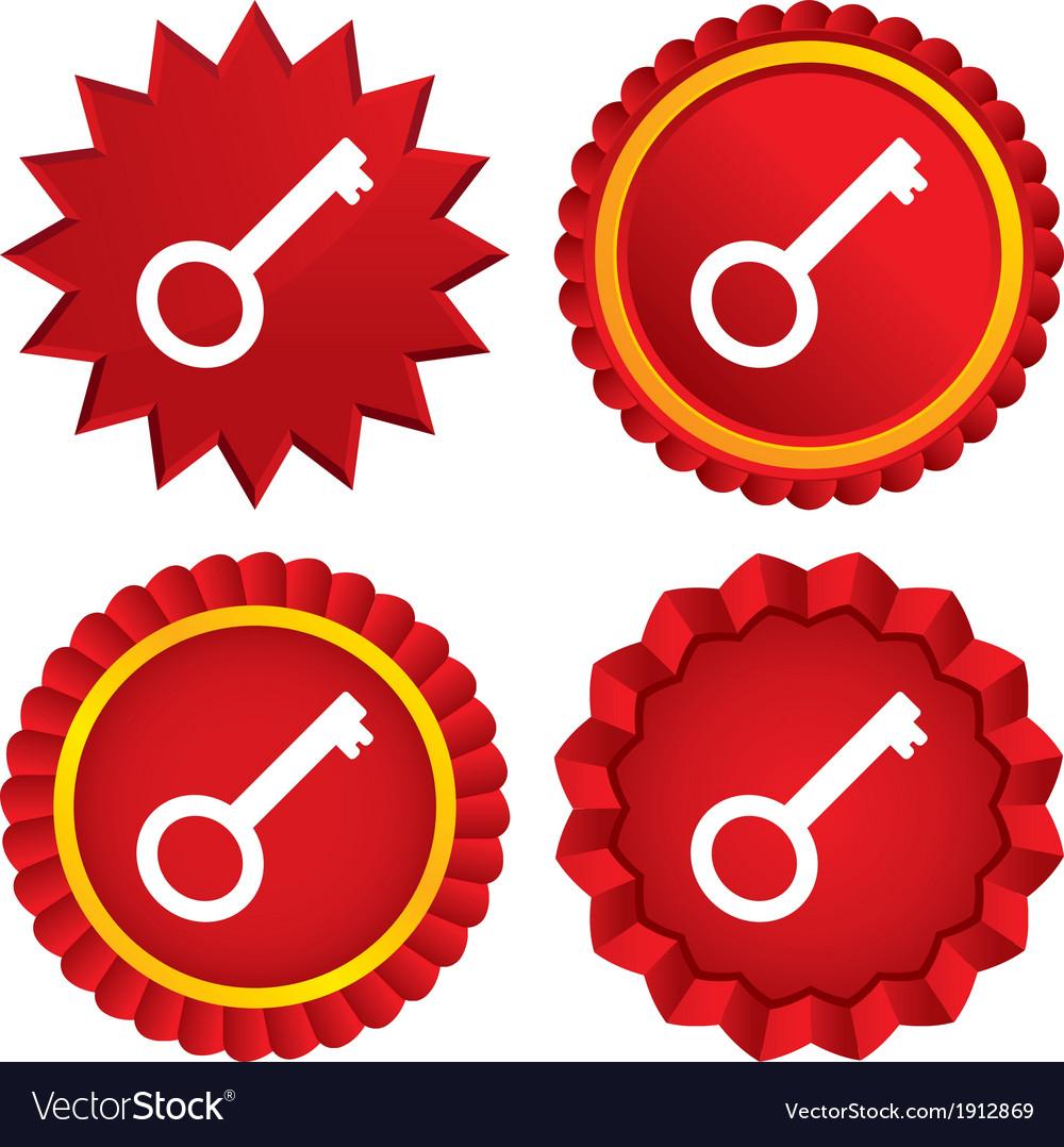 Key sign icon unlock tool symbol vector | Price: 1 Credit (USD $1)