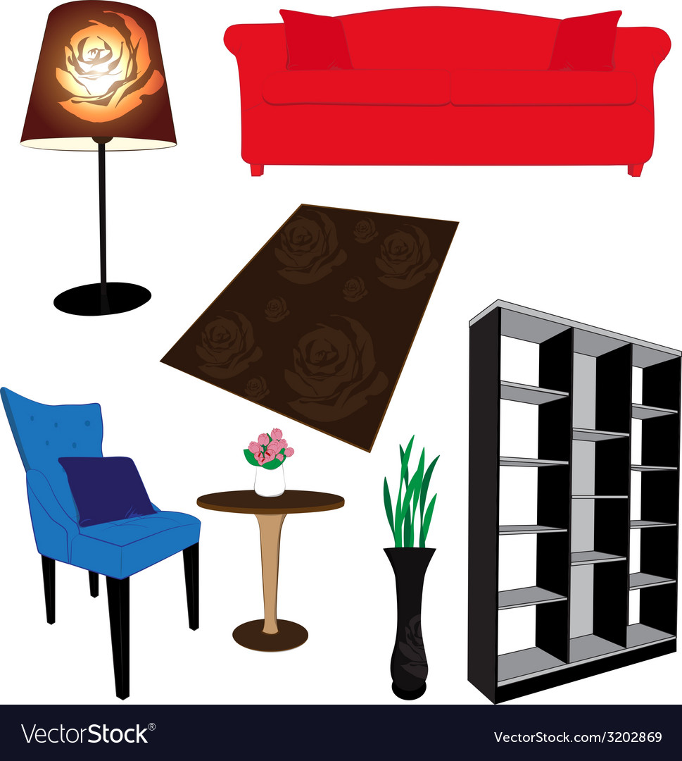 Living room furniture vector | Price: 1 Credit (USD $1)