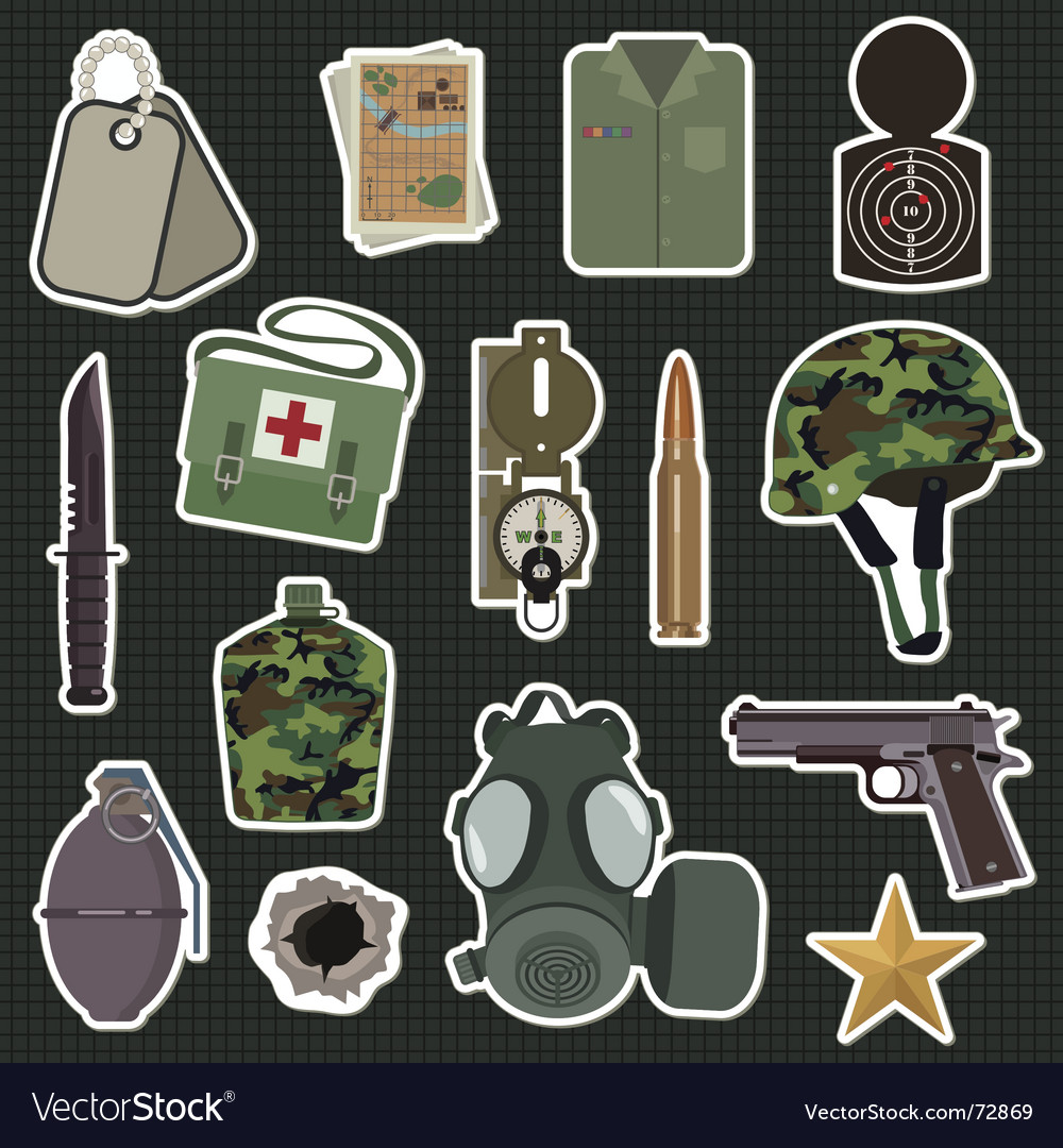 Military stickers vector | Price: 3 Credit (USD $3)