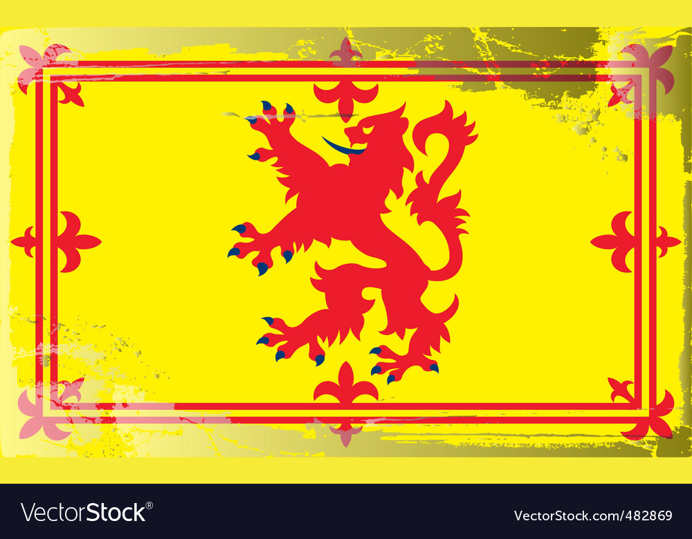 Scotland national flag vector | Price: 1 Credit (USD $1)