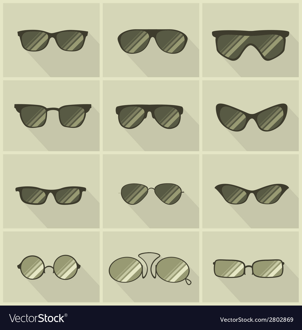Set of glasses in vintage style vector | Price: 1 Credit (USD $1)
