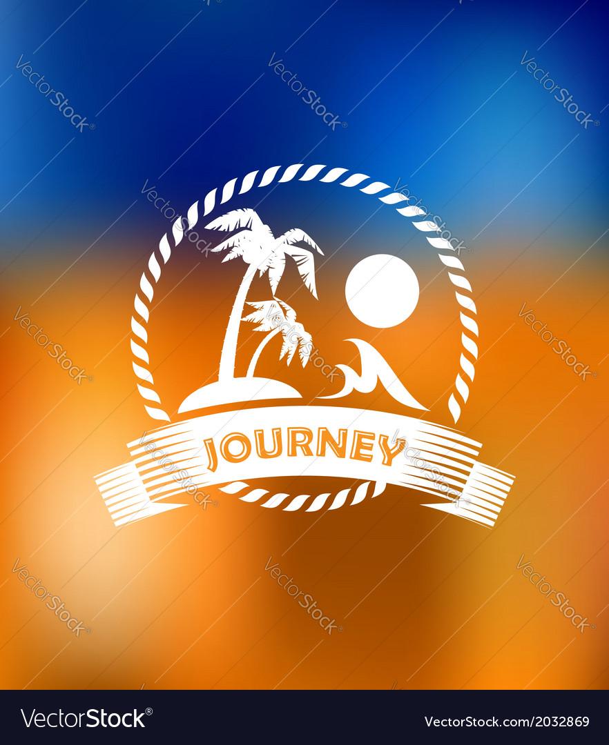 Tropical summer vacation icon vector | Price: 1 Credit (USD $1)