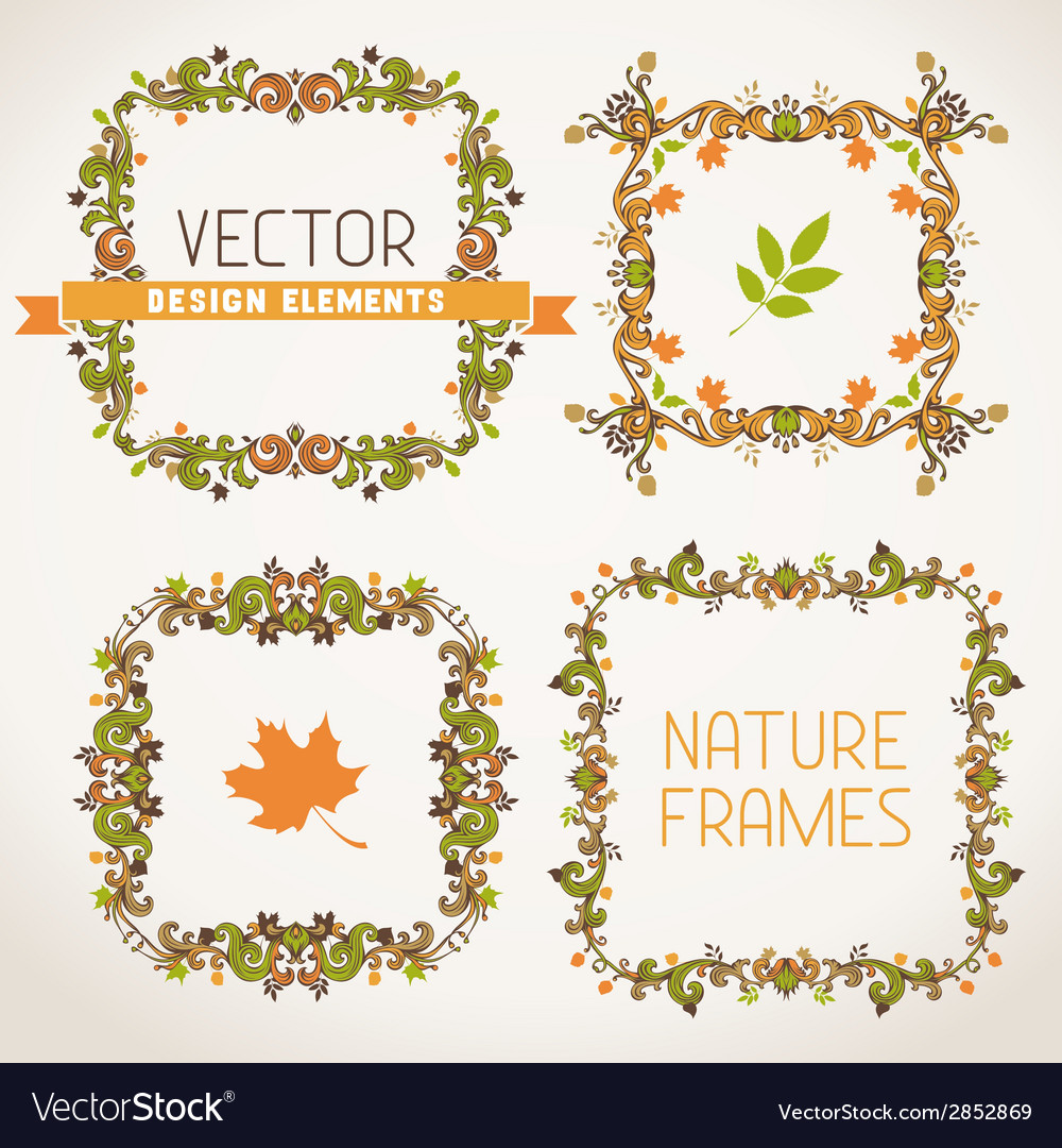 Vintage autumn frames vector | Price: 1 Credit (USD $1)