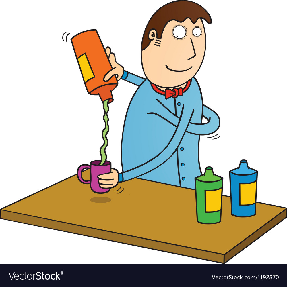 Bartender in action vector | Price: 1 Credit (USD $1)