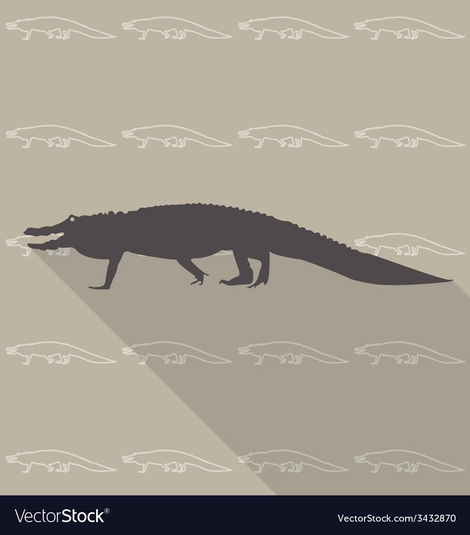Crocodile vector | Price: 1 Credit (USD $1)