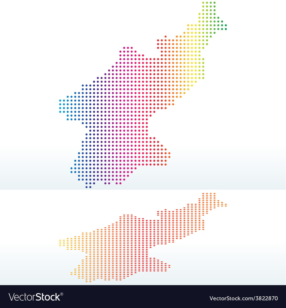 Map of democratic peoples republic of korea north vector | Price: 1 Credit (USD $1)