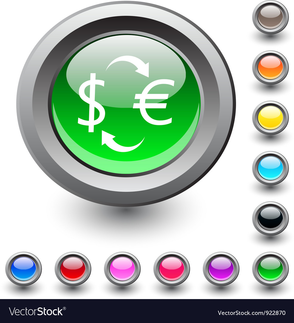 Money exchange round button vector | Price: 1 Credit (USD $1)