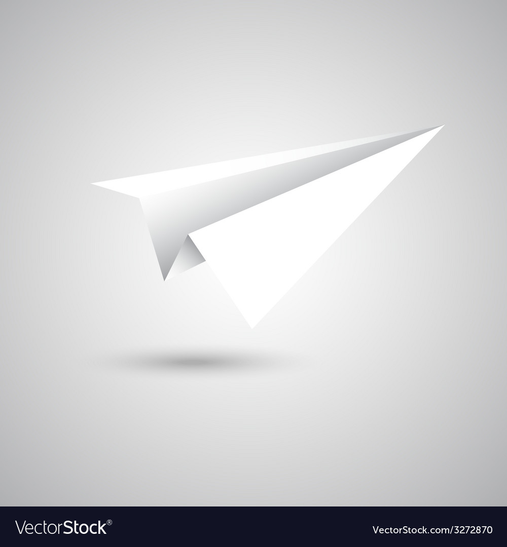 Paper plane fly on gray background vector | Price: 1 Credit (USD $1)