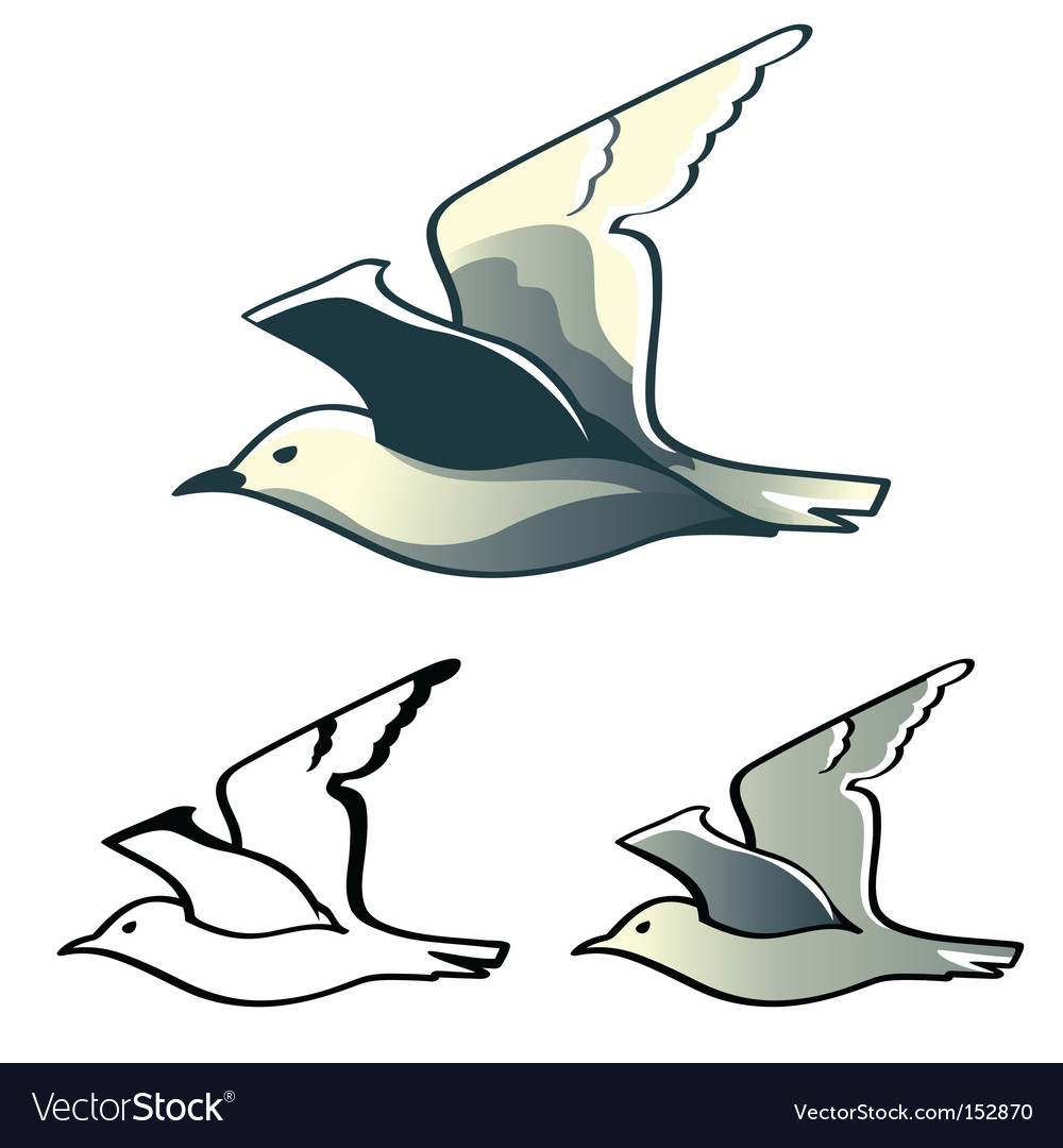 Seagull logo vector | Price: 1 Credit (USD $1)