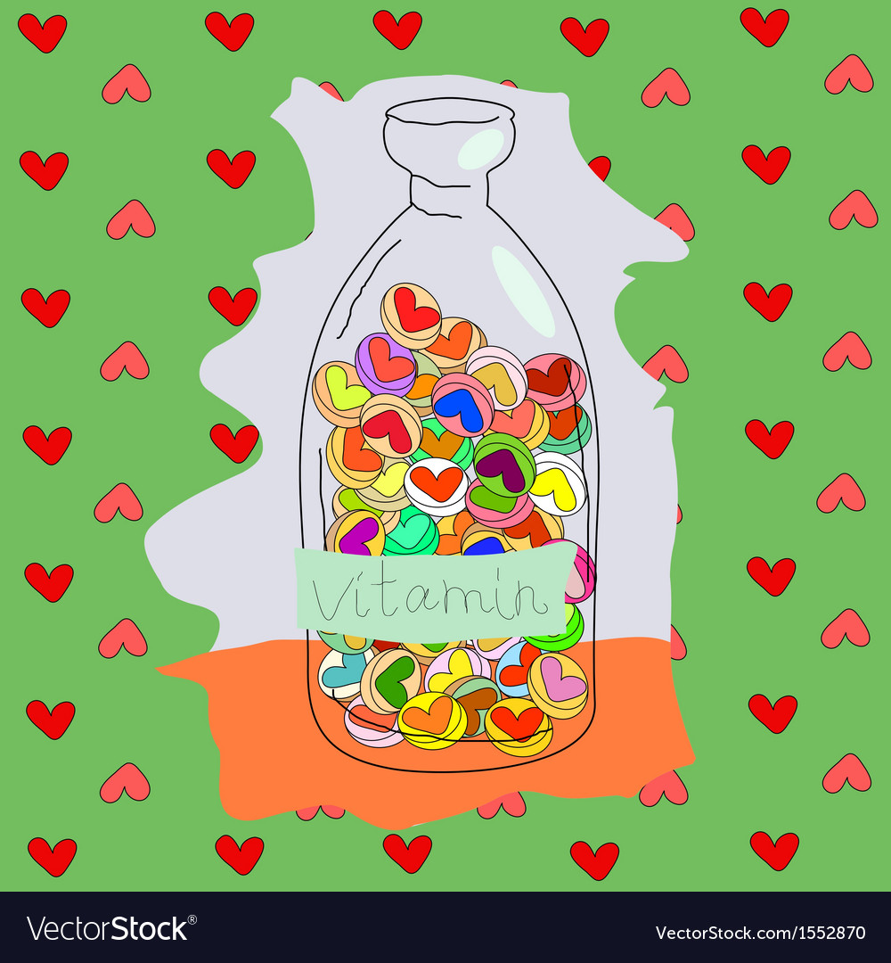 Vitamins love vector | Price: 1 Credit (USD $1)