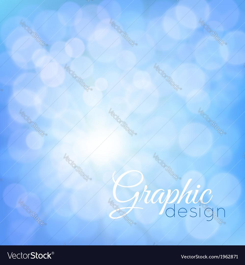 Blue glowing background bokeh vector