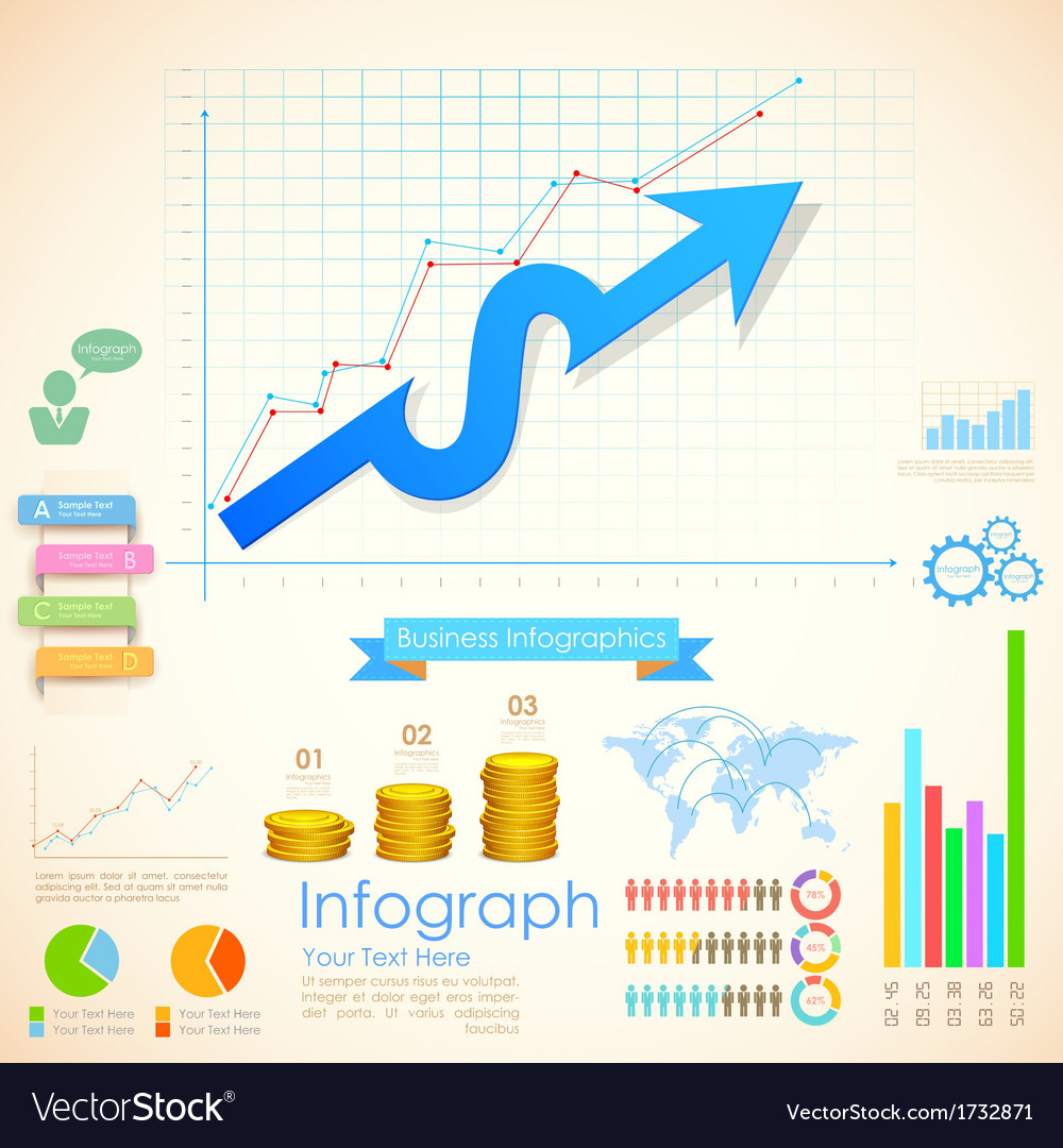 Business infographics chart vector | Price: 1 Credit (USD $1)