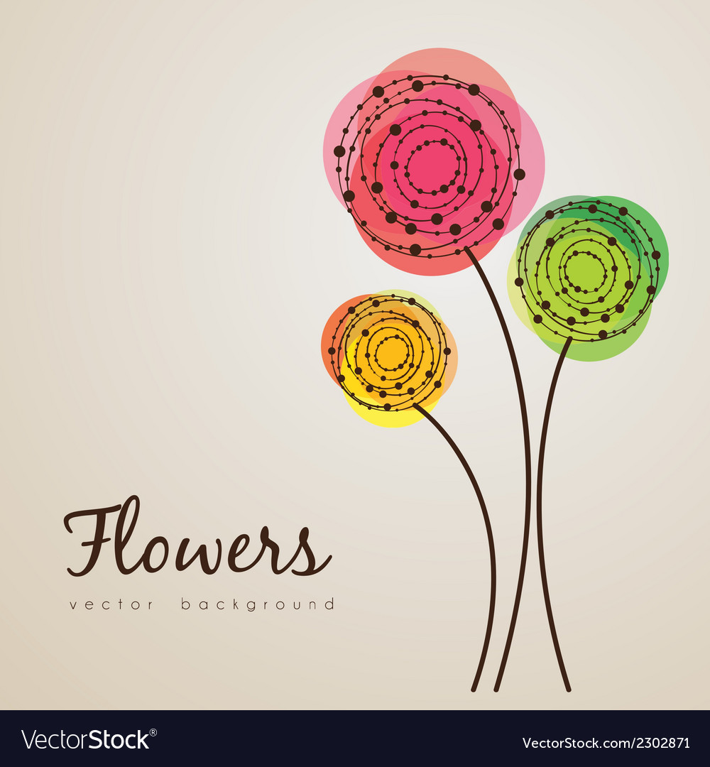 Delicate flowers vector | Price: 1 Credit (USD $1)