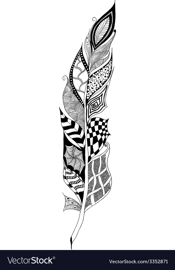 Feather tangle vector | Price: 1 Credit (USD $1)