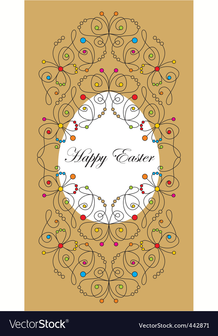 Greeting easter card vector | Price: 1 Credit (USD $1)