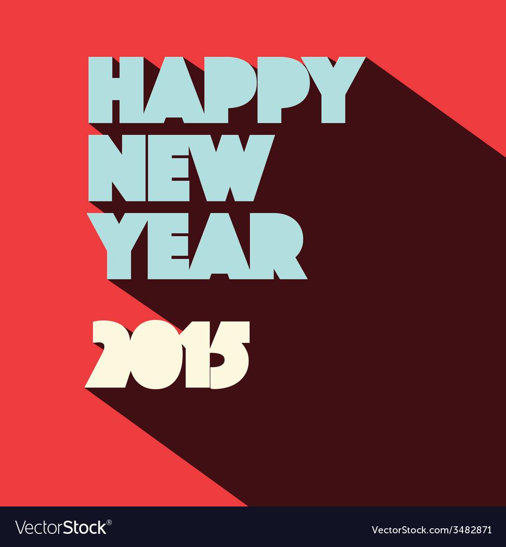 Happy new year 2015 retro vector   Price: 1 Credit (USD $1)