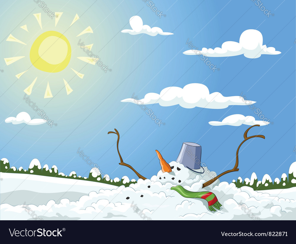 Melted snowman vector | Price: 3 Credit (USD $3)