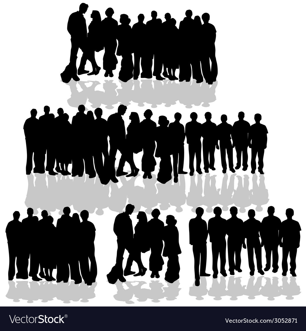 People group on white vector | Price: 1 Credit (USD $1)