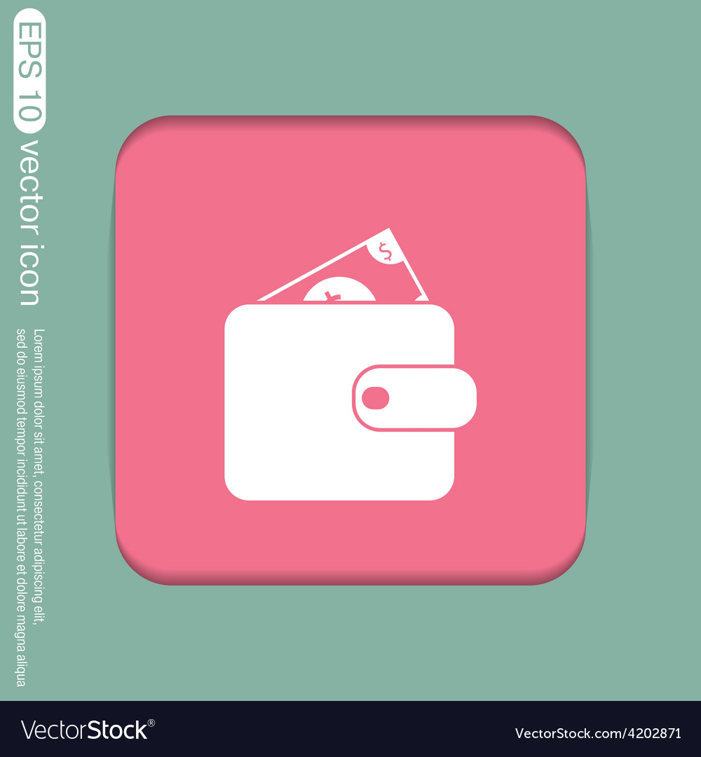 Purse sign symbol icon purse and dollar money in vector | Price: 1 Credit (USD $1)