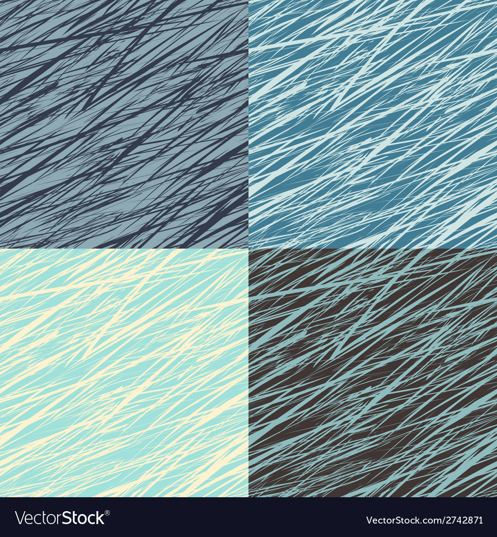 Set of abstract linear grunge seamless patterns vector | Price: 1 Credit (USD $1)