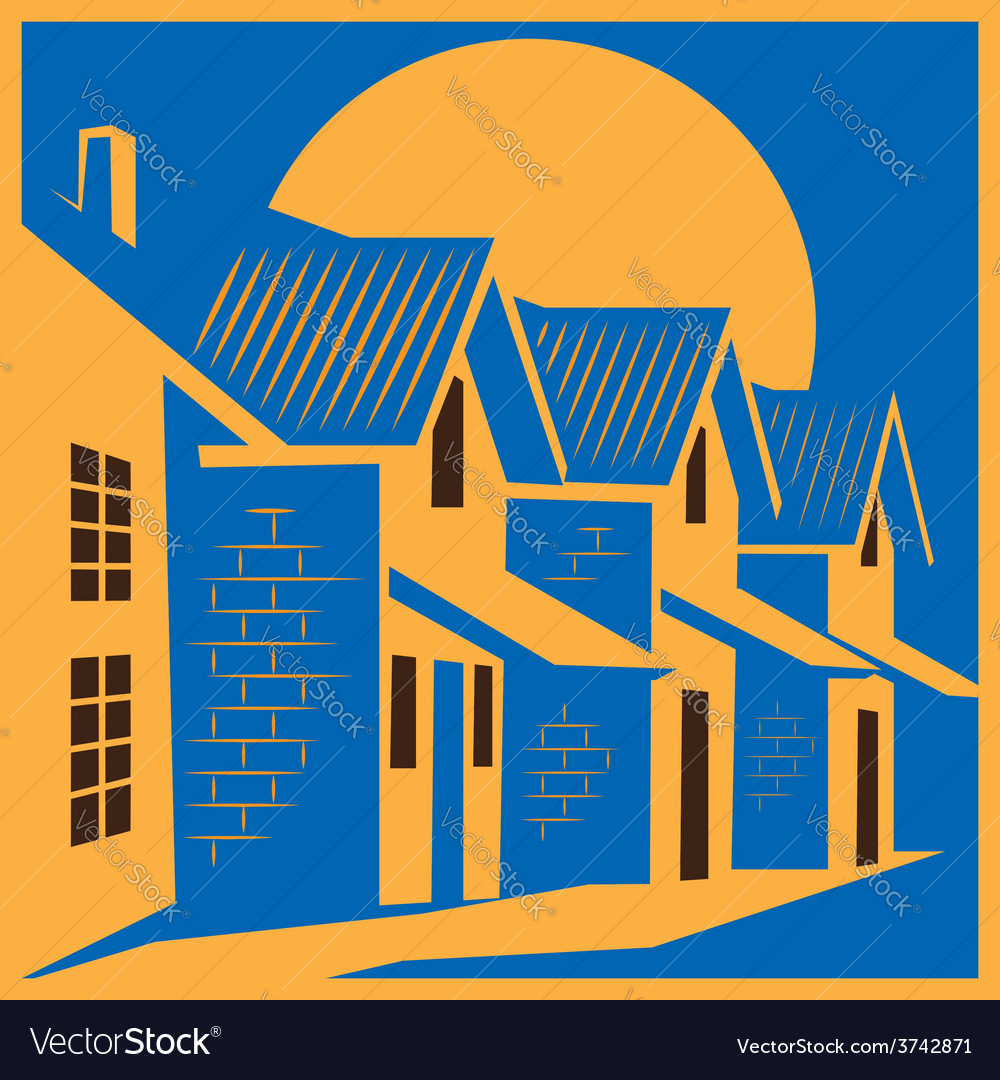 Town house colorful vector | Price: 1 Credit (USD $1)