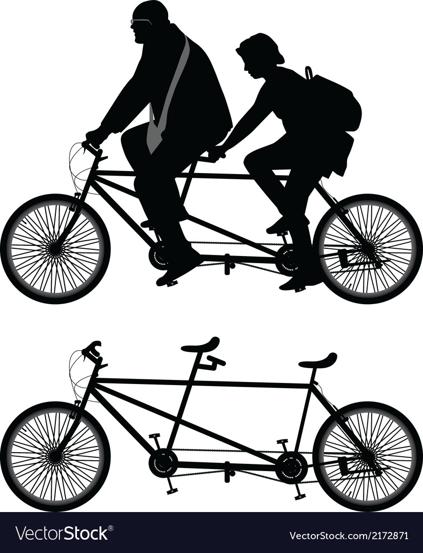 Two-seater bike vector | Price: 1 Credit (USD $1)