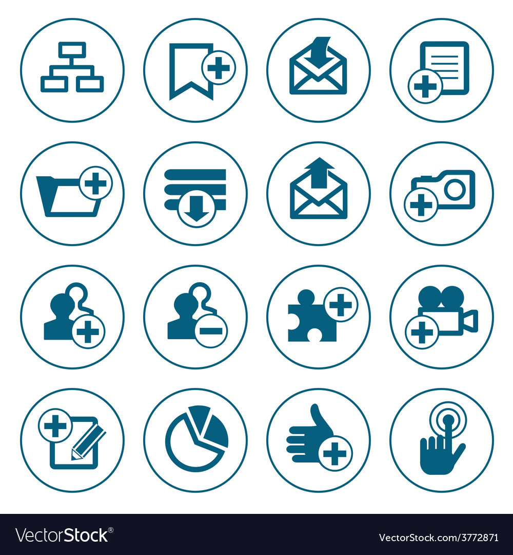 Web icons set vector | Price: 1 Credit (USD $1)