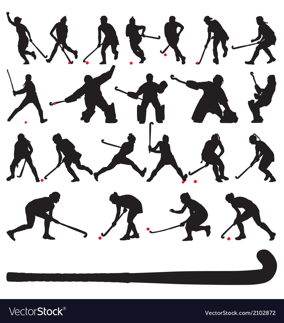 Field hocky players vector | Price: 1 Credit (USD $1)