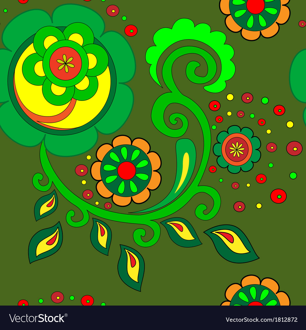 Green floral pattern vector | Price: 1 Credit (USD $1)