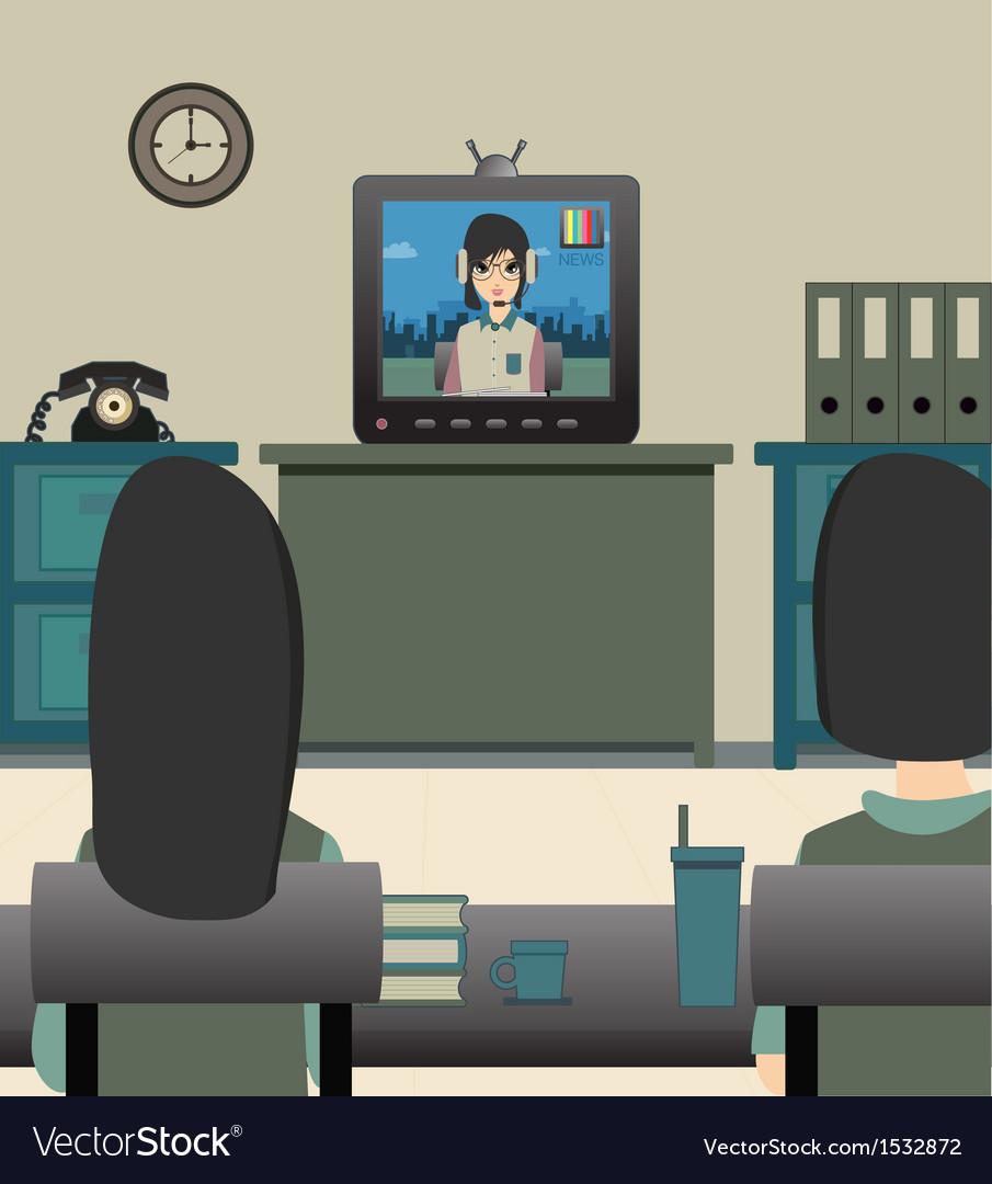 Kids watching tv vector   Price: 3 Credit (USD $3)
