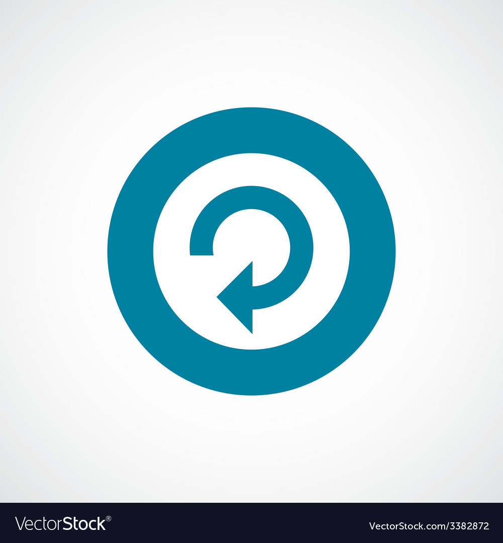 Reload bold blue border circle icon vector | Price: 1 Credit (USD $1)