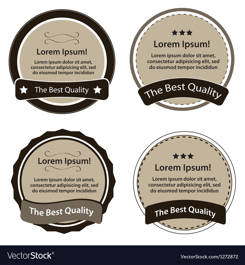 Retro design premium vintage labels vector | Price: 1 Credit (USD $1)
