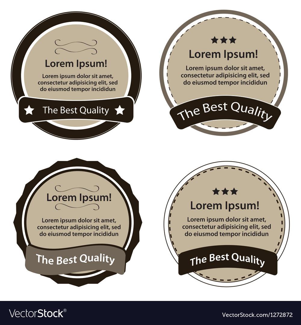 Retro design premium vintage labels vector | Price: 1 Credit (USD $1)