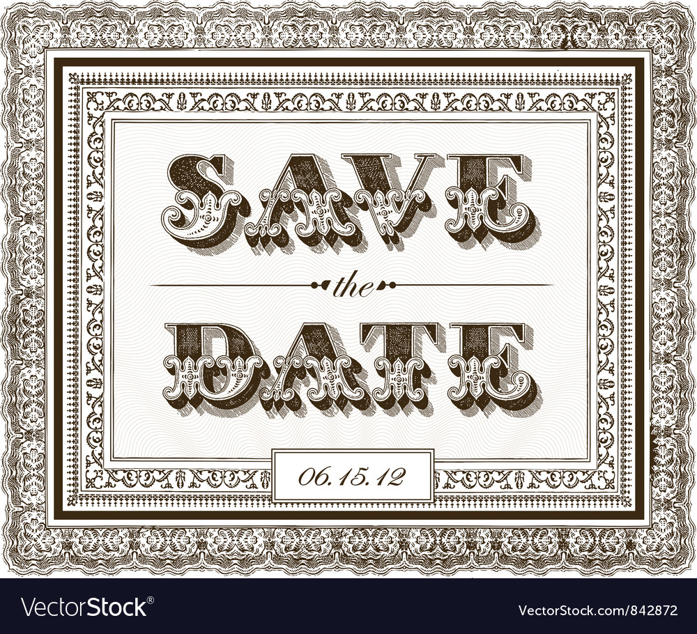 Save the date invite vector | Price: 1 Credit (USD $1)