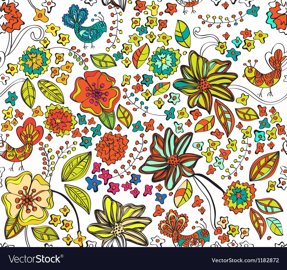 Seamless natural colorful background vector | Price: 1 Credit (USD $1)