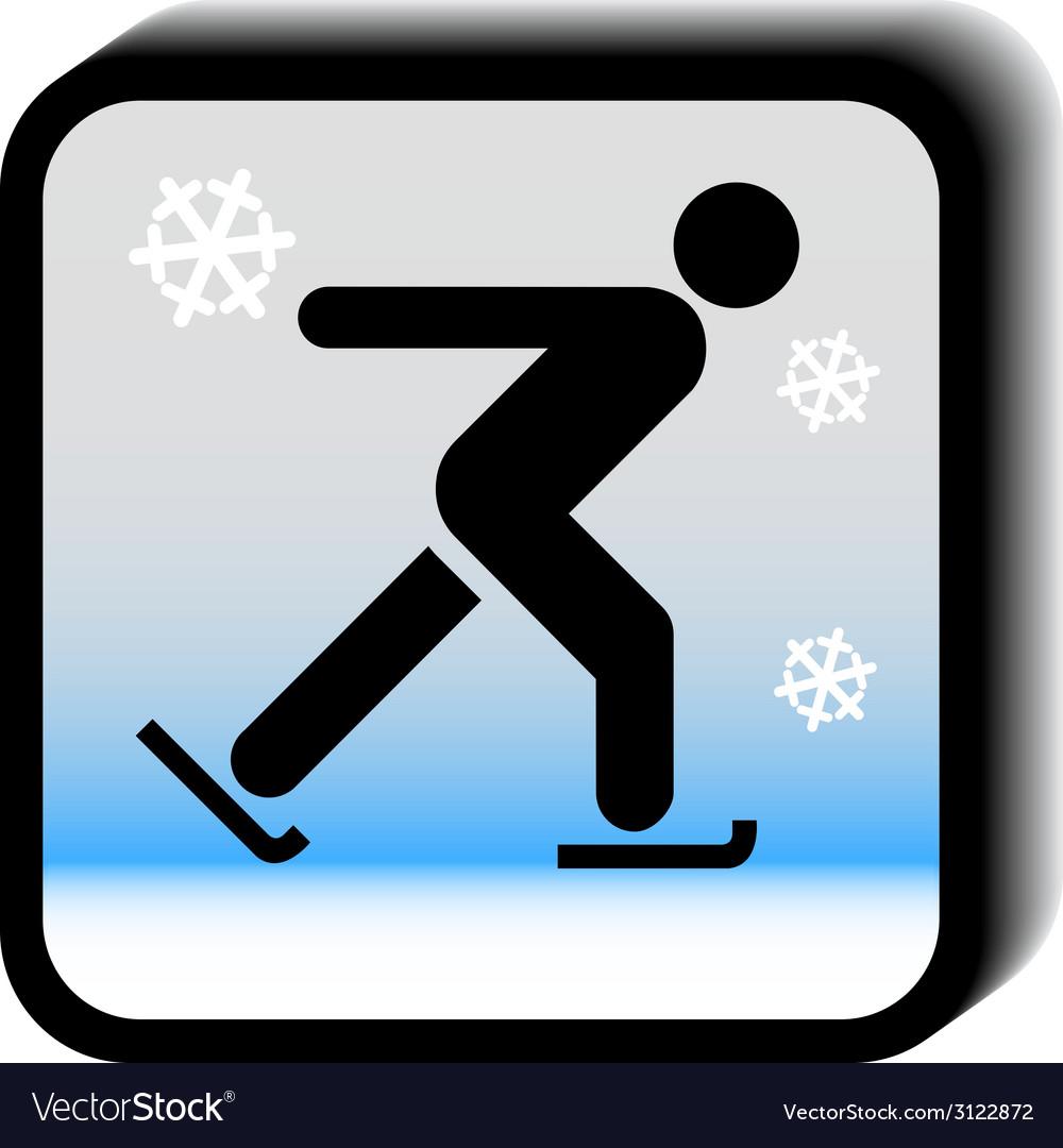 Winter icon -skating vector | Price: 1 Credit (USD $1)
