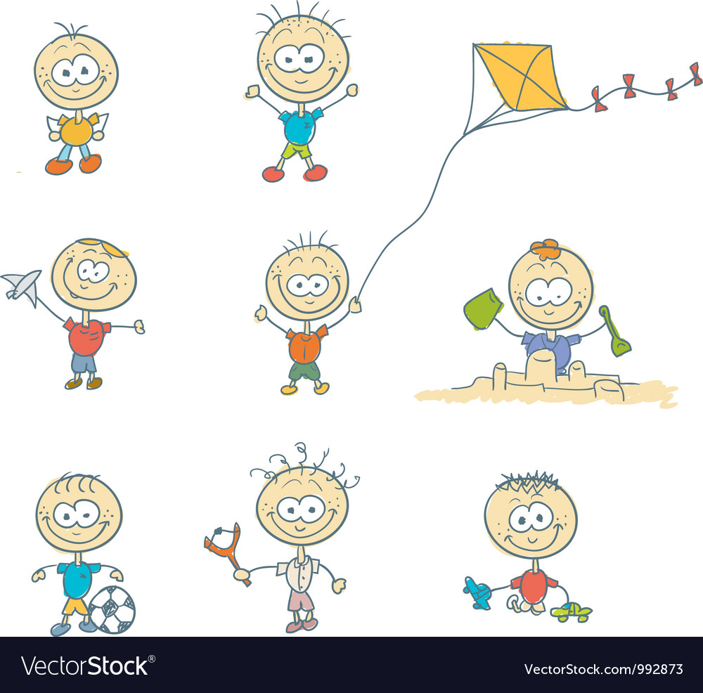 Children play on the playground vector | Price: 1 Credit (USD $1)