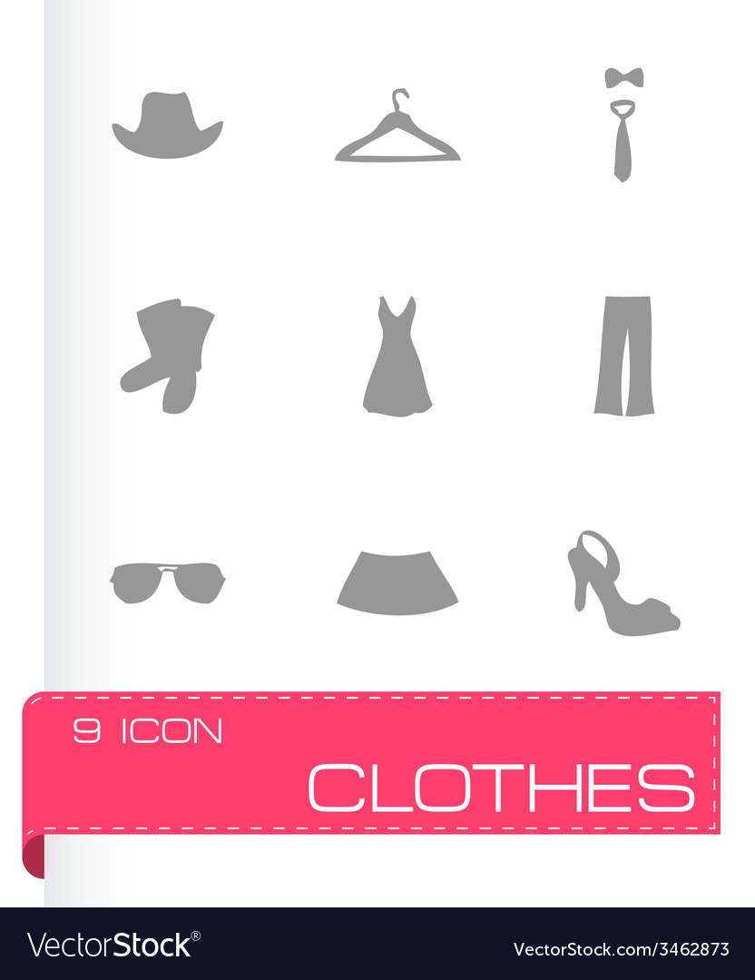 Clothes icons set vector | Price: 1 Credit (USD $1)