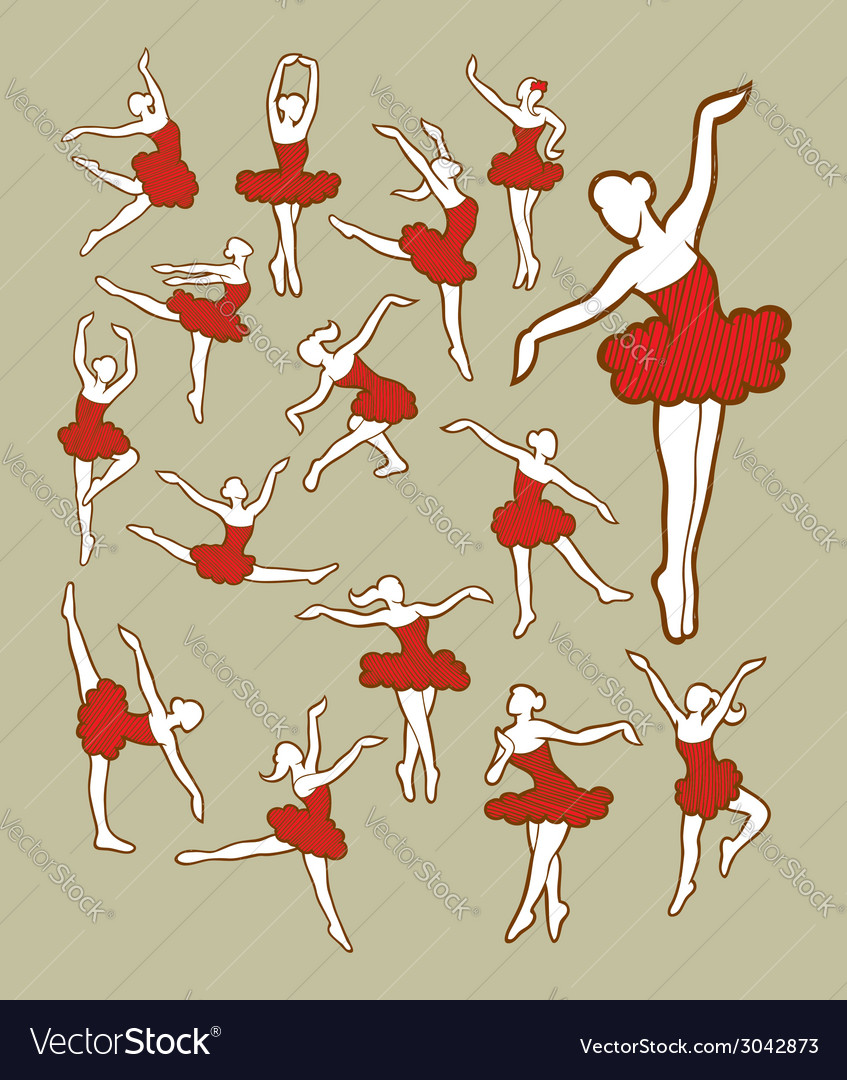 Dancer color vector | Price: 1 Credit (USD $1)