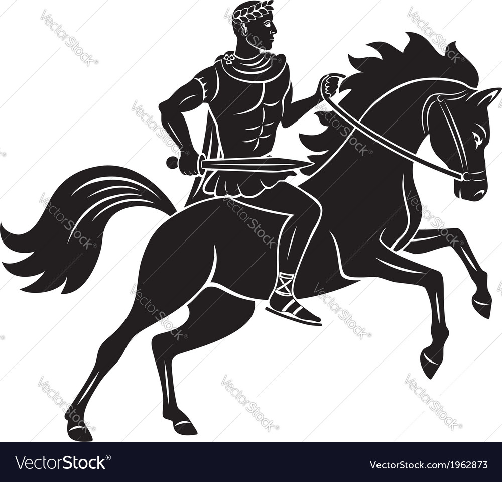 Horseback vector | Price: 1 Credit (USD $1)