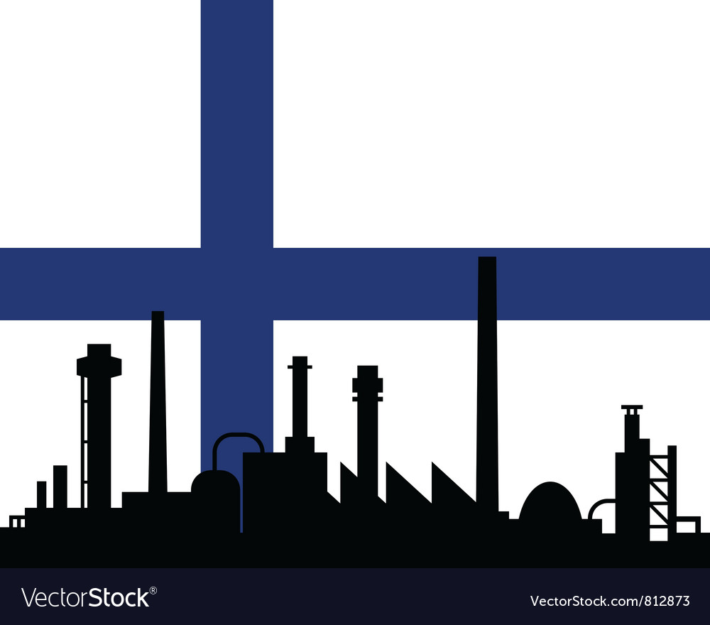 Industry and flag of finland vector | Price: 1 Credit (USD $1)