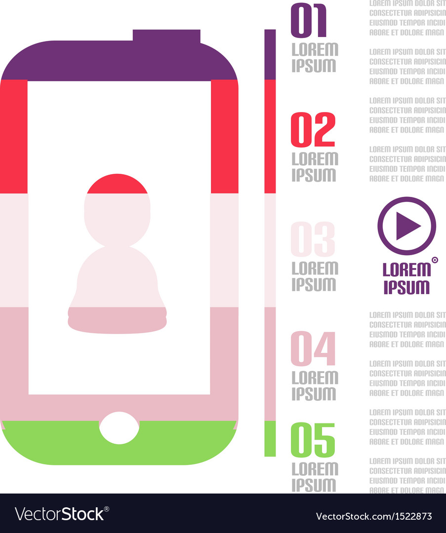 Modern minimal mobile phone infographic vector | Price: 1 Credit (USD $1)