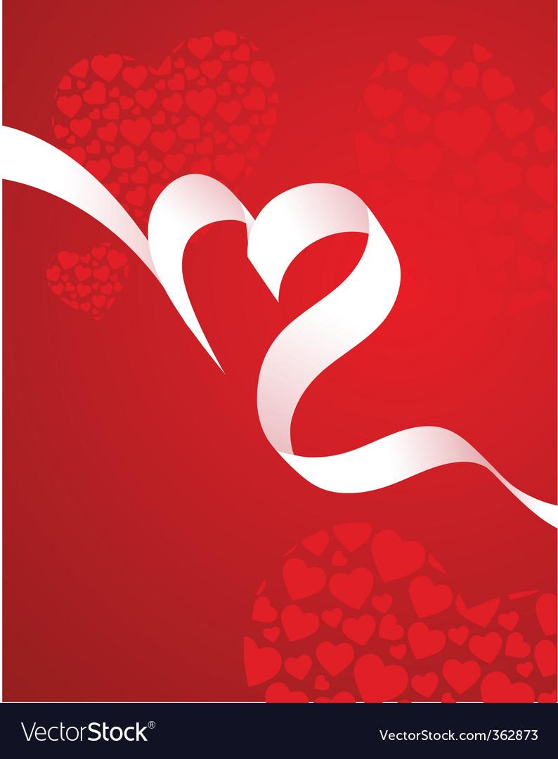 Ribbon love vector | Price: 1 Credit (USD $1)